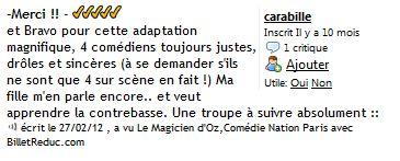 Cie Waverley - Le magicien d Oz - critique 03