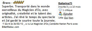 Cie Waverley - Le magicien d Oz - critique 07